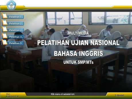 Multimedia Interaktif Pelatihan Soal Un Bahasa Inggris Media Peduli Pendidikan