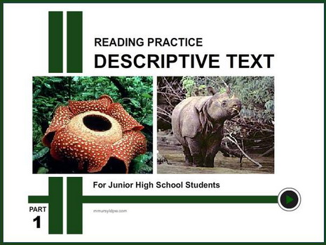 Reading Practice – Descriptive Text _ Part 1